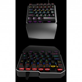 INKER Single Hand Mechanical Gaming Keyboard RGB - K9 - Black - 10