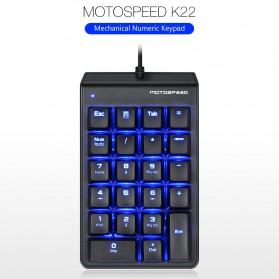 MOTOSPEED Mechanical Gaming USB Numeric Keypad Numpad LED Backlight Red Switch - K22 - Black