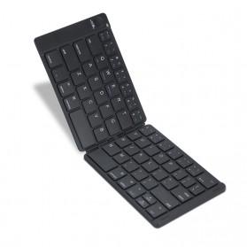 Avatto Wireless Keyboard Lipat Folding iOS Android Windows - A17 - Black