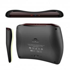 VONTAR Keyboard Wireless Mini Backlight dengan Touchpad - D8 - Black - 7