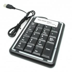 Portable USB Numeric Keypad - K-015 - Black - 3