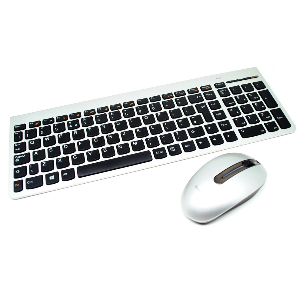 ... Lenovo Ultraslim Plus Wireless Keyboard and Mouse SM-8861 Lang UK -  Silver - 1 ... 8fae8d4972
