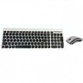 Lenovo Ultraslim Plus Wireless Keyboard and Mouse N70 Lang Taiwan - Silver