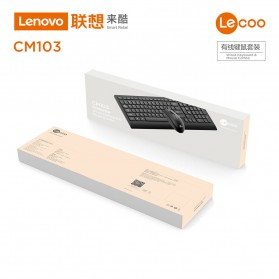 Lenovo Lecoo Combo Keyboard + Mouse Wired - CM103 - Black