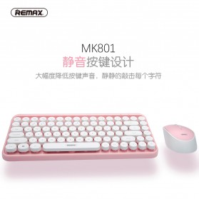 Remax Wireless Gaming Keyboard Mouse Combo - XII-MK801 - Blue - 3