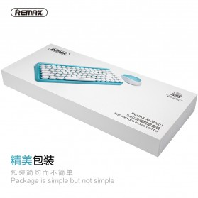 Remax Wireless Gaming Keyboard Mouse Combo - XII-MK801 - Blue - 5