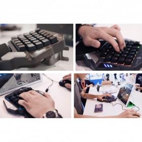 GameSir Z1 Single Hand Bluetooth Mechanical Gaming Keyboard RGB 33 Keys Cherry MX Red - Black - 7