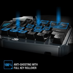 GameSir Z1 Single Hand Bluetooth Mechanical Gaming Keyboard RGB 33 Keys Cherry MX Red - Black - 9