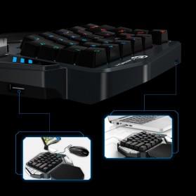 GameSir Z1 Single Hand Bluetooth Mechanical Gaming Keyboard RGB 33 Keys Cherry MX Red - Black - 10