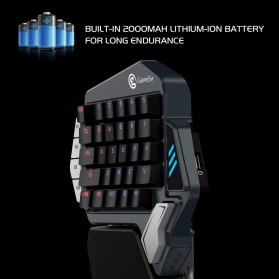 GameSir Z1 Single Hand Bluetooth Mechanical Gaming Keyboard RGB 33 Keys Kailh Blue - Black - 5