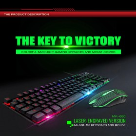 iMice Gaming Keyboard Mouse Combo Rainbow Backlit RGB - MK-680 - Black
