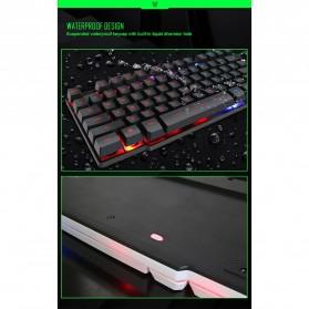 iMice Gaming Keyboard Mouse Combo Rainbow Backlit RGB - MK-680 - Black - 3