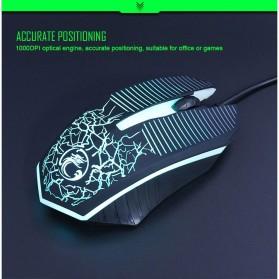 iMice Gaming Keyboard Mouse Combo Rainbow Backlit RGB - MK-680 - Black - 4
