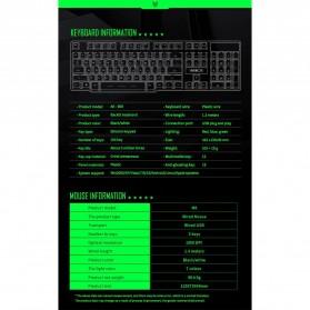 iMice Gaming Keyboard Mouse Combo Rainbow Backlit RGB - MK-680 - Black - 6