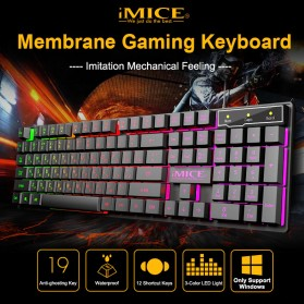 iMice Gaming Keyboard Mouse Combo Rainbow Backlit RGB - AN-300 - Black - 2