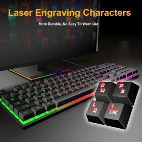 iMice Gaming Keyboard Mouse Combo Rainbow Backlit RGB - AN-300 - Black - 4