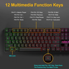 iMice Gaming Keyboard Mouse Combo Rainbow Backlit RGB - AN-300 - Black - 6