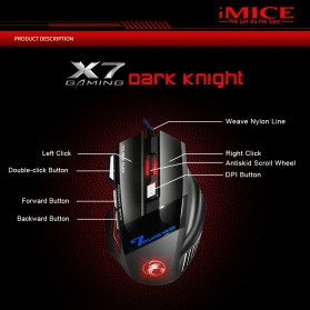 iMice Gaming Keyboard Mouse Combo Rainbow Backlit RGB - AN-300 - Black - 8