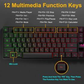 iMice Gaming Keyboard RGB Backlit - AK-600 - Black - 4