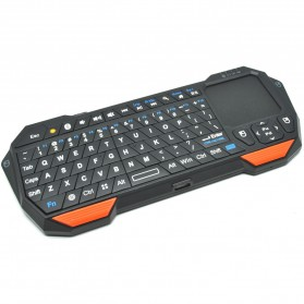 QQ Keyboard Bluetooth Mini dengan Touchpad & Mouse - Black