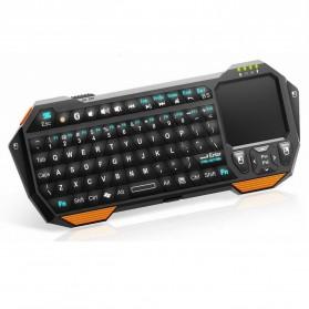QQ Keyboard Bluetooth Mini dengan Touchpad & Mouse - Black - 2