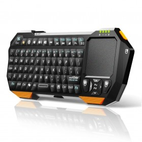 QQ Keyboard Bluetooth Mini dengan Touchpad & Mouse - Black - 3
