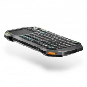 QQ Keyboard Bluetooth Mini dengan Touchpad & Mouse - Black - 6