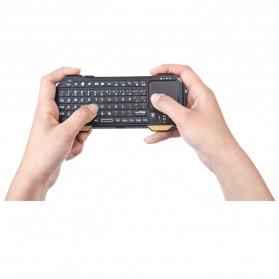 QQ Keyboard Bluetooth Mini dengan Touchpad & Mouse - Black - 8