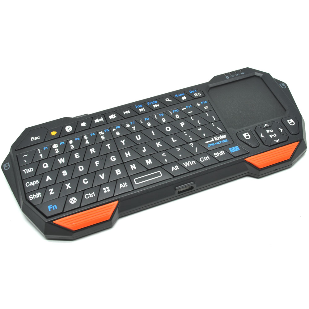 Bluetooth Keyboard Mapping Android: QQ Keyboard Bluetooth Mini Dengan Touchpad & Mouse