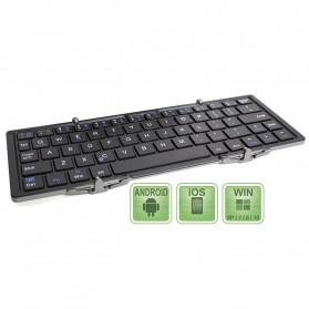 Keyboard Bluetooth Three Folding Magnetic - Silver - 3