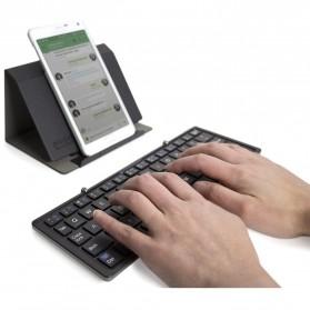 Keyboard Bluetooth Three Folding Magnetic - Silver - 4