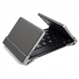 Keyboard Bluetooth Three Folding Magnetic - Silver - 5