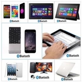 Keyboard Bluetooth Three Folding Magnetic - Silver - 6