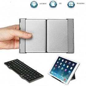Keyboard Bluetooth Three Folding Magnetic - Silver - 7