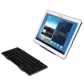 Keyboard Bluetooth Three Folding Magnetic - Silver - 9