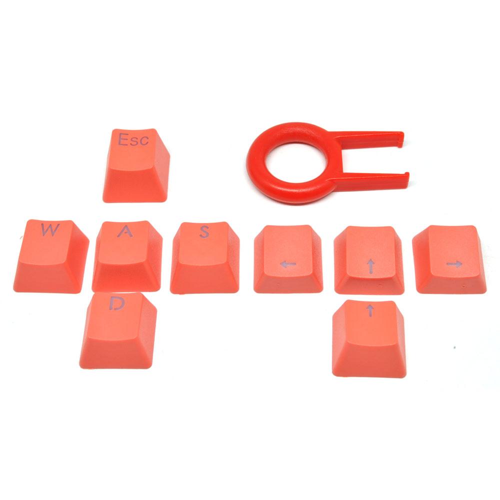 Wireless Keyboard Komputer Tablet Harga Murah Gaming Kabel  Lampu Led Warna Warni Wired Keycap Pengganti Mechanical Dengan Pengungkit Orange