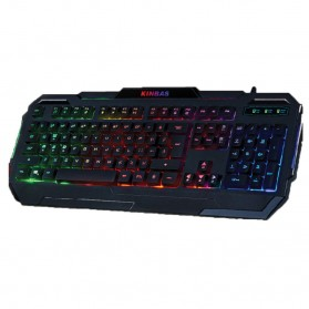 Kinbas Keyboard Gaming USB dengan Lampu LED - VP-X9 - Black - 1