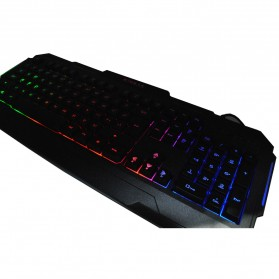 Kinbas Keyboard Gaming USB dengan Lampu LED - VP-X9 - Black - 2