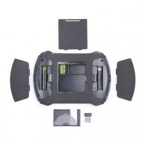 EastVita Keyboard Genggam Wireless dengan Touch Pad - V6 - Black - 5