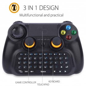 DOBE Keyboard Gamepad Wireless dengan Touch Pad -  TI-501 - Black - 8