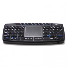 Keyboard Wireless Mini dengan Touch Pad - KB168 - Black