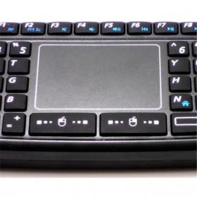Keyboard Wireless Mini dengan Touch Pad - KB168 - Black - 5