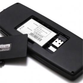 Keyboard Wireless Mini dengan Touch Pad - KB168 - Black - 6