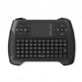 Keyboard Wireless Mini dengan Touchpad - T16 - Black