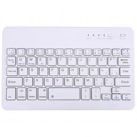 VONTAR Wireless Bluetooth Keyboard Rechargeable - KM78D - White
