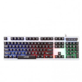 LDKAI Gaming Keyboard RGB LED - R260 - Black White