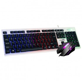 Lokai 833 Gaming Keyboard LED with Mouse - Black
