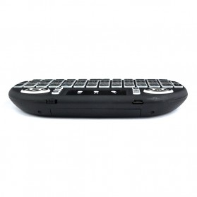 Air Mouse Wireless Keyboard RGB 2.4GHz Dengan Touch Pad - I8-3C - Black - 4