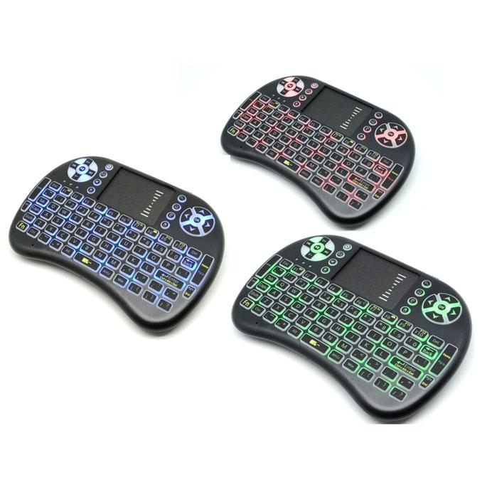 841d4ea8ec1 ... Air Mouse Wireless Keyboard RGB 2.4GHz Dengan Touch Pad - I8-3C - Black  ...
