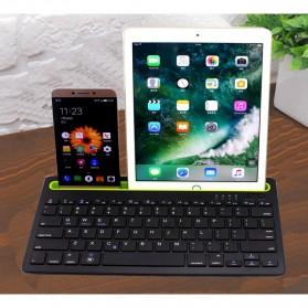 Keyboard Bluetooth dengan Tablet Smartphone Holder - Black